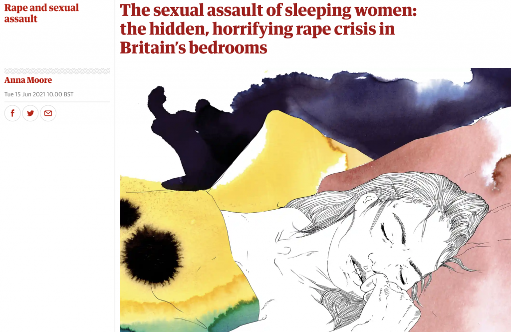 """Om """"den ukjente seksuelle forstyrrelsen"""" somnofili i The Guardian"""